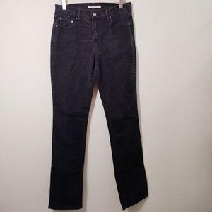 Levi's Black 505 Straight High Rise Denim Jeans 6